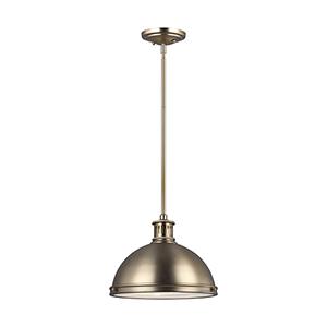 Pratt Street Metal Satin Bronze Energy Star 13-Inch Two-Light Pendant