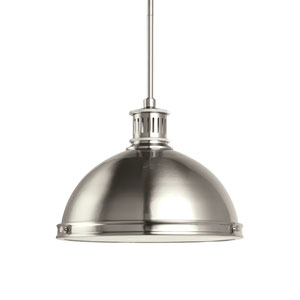 Pratt Street Metal Brushed Nickel Energy Star Two-Light LED Pendant