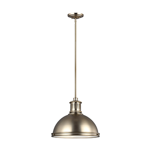 Pratt Street Metal Satin Bronze 16-Inch Three-Light Pendant