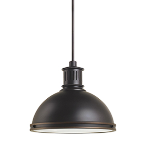 Pratt Street Metal Autumn Bronze 16-Inch LED Pendant