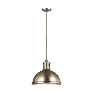Pratt Street Metal Satin Bronze 16-Inch LED Pendant