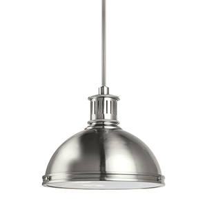 Pratt Street Metal Brushed Nickel 16-Inch LED Pendant