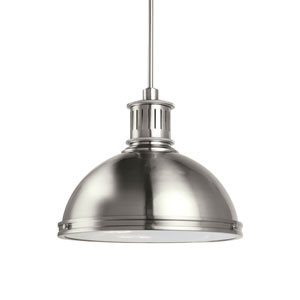 Pratt Street Metal Brushed Nickel Energy Star Three-Light LED Pendant