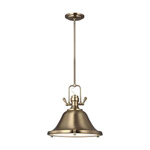 Stone Street Satin Bronze Energy Star 13-Inch One-Light Pendant