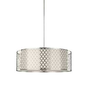 Jourdanton Brushed Nickel Energy Star Four-Light LED Pendant