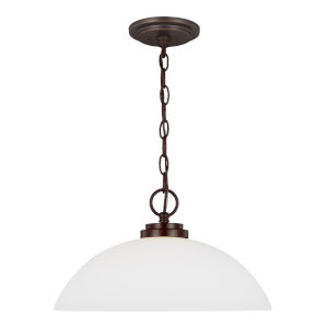 Oslo Burnt Sienna One-Light Pendant with Etched White Inside Shade