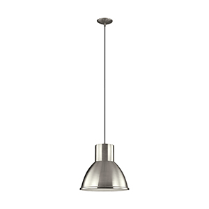 Division Street Brushed Nickel 15-Inch LED Pendant