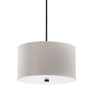 Dayna Shade Pendants Burnt Sienna Energy Star Three-Light LED Pendant