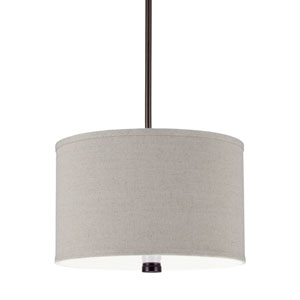 Dayna Shade Pendants Burnt Sienna Energy Star Two-Light LED Pendant