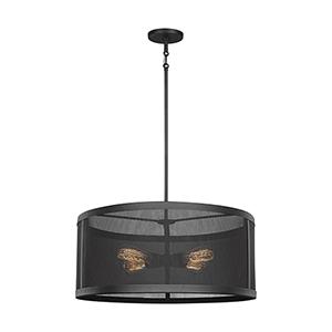 Gereon Black 24-Inch Four-Light Pendant