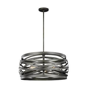 Cowen Obsidian Mist Three-Light LED Banded Drum Pendant