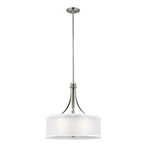 Elmwood Park Brushed Nickel Three-Light Pendant