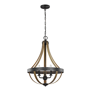 Davlin Stardust Energy Star 18-Inch Three-Light Chandelier
