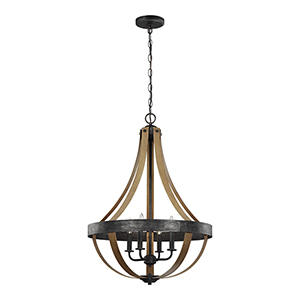 Davlin Stardust Energy Star 22-Inch Four-Light Chandelier