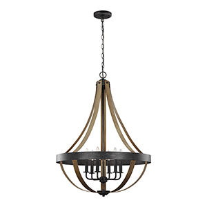 Davlin Stardust Energy Star 26-Inch Six-Light Chandelier