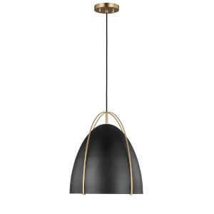 Norman Satin Bronze 15-Inch One-Light Pendant Energy Star