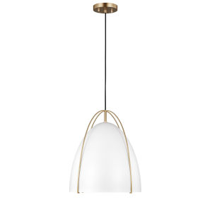 Norman Satin Bronze White One-Light Pendant