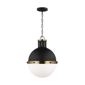Hanks Midnight Black Pendant with LED Bulb