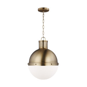 Hanks Satin Bronze Pendant with LED Bulb