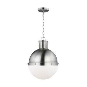 Hanks Brushed Nickel Pendant with LED Bulb