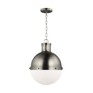 Hanks Antique Brushed Nickel Pendant with LED Bulb