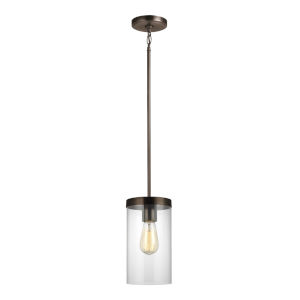 Zire Brushed Oil Rubbed Bronze Six-Inch LED Mini Pendant
