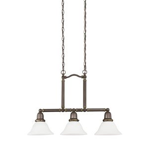 Sussex Heirloom Bronze Energy Star Three-Light LED Island Pendant
