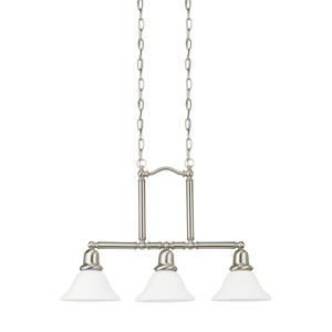 Sussex Brushed Nickel Energy Star Three-Light LED Island Pendant
