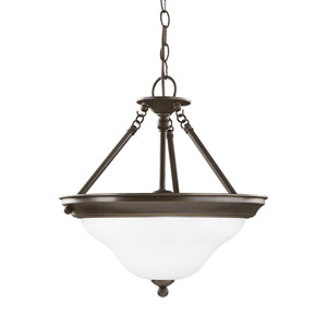 Sussex Heirloom Bronze Energy Star Three-Light LED Convertible Pendant