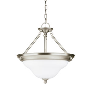 Sussex Brushed Nickel Energy Star Three-Light LED Convertible Pendant
