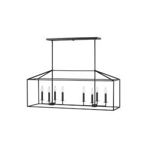 Perryton Midnight Black 12-Inch Eight-Light Pendant with LED Bulbs