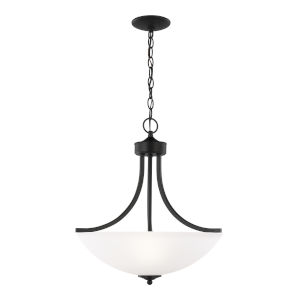 Geary Midnight Black Three-Light Pendant without Bulbs