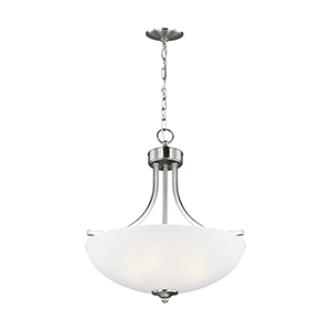 Geary Brushed Nickel 19-Inch Three-Light Pendant