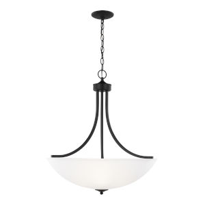 Geary Midnight Black Four-Light Pendant without Bulbs