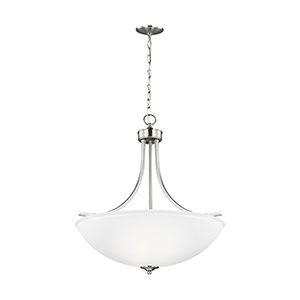 Geary Brushed Nickel 25-Inch Four-Light Pendant
