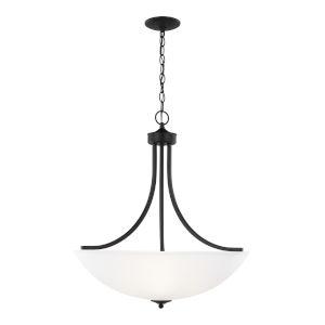 Geary Midnight Black Four-Light Pendant with LED Bulbs
