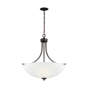 Geary Burnt Sienna Energy Star 25-Inch Four-Light Pendant