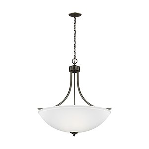 Geary Heirloom Bronze Energy Star 25-Inch Four-Light Pendant