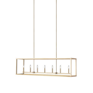 Moffet Street Satin Bronze Seven-Light Pendant Energy Star