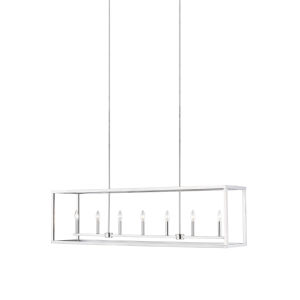 Moffet Street Brushed Nickel Seven-Light Pendant Energy Star