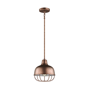 Jeyne Weathered Copper 10-Inch One-Light Pendant