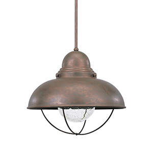 Sebring Weathered Copper 17-Inch LED Outdoor Pendant