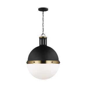 Hanks Midnight Black 16-Inch Pendant with LED Bulb