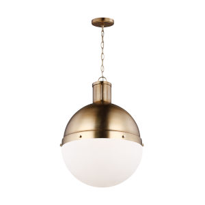 Hanks Satin Bronze 16-Inch Pendant with LED Bulb