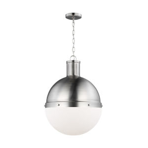 Hanks Brushed Nickel 16-Inch Pendant with LED Bulb