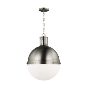 Hanks Antique Brushed Nickel 16-Inch Pendant with LED Bulb