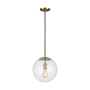 Leo Hanging Globe Satin Bronze 12-Inch LED Pendant