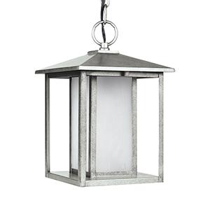 Hunnington Weathered Pewter Nine-Inch LED Outdoor Pendant