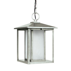 Hunnington Weathered Pewter Energy Star LED Outdoor Pendant