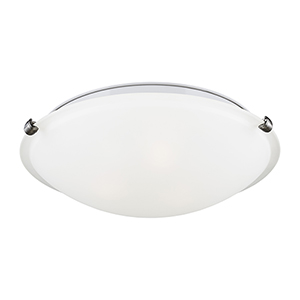 Brushed Nickel 12-Inch LED Flush Mount